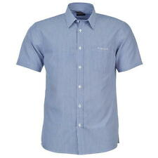 Pierre Cardin Mens Short Sleeve Shirt White/Blue Stripe New With Tags