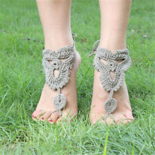 Wedding Dance Beach Foot Jewelry Crochet Barefoot Anklet Knit Anklet Sandals