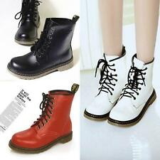 Ladies Combat Military Lace Up Mid Calf Women's NEW Round Toe Punk Ankle Boots