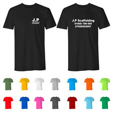 Custom Printed Personalised Trade Workwear T-Shirts Scaffolding Electricians Top