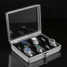 12/6/2 Grid Slots Jewelry Watches Display Storage Box Case Aluminium Square OB