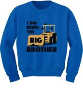 Big Brother Gift for Tractor Loving Boys Siblings Toddler/Kids Sweatshirts