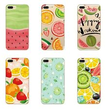 Cases For iPhone 5s 5 5C 6 6s 7 Plus Soft TPU Silicone Back Covers Skins Fruits