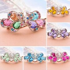 Knot Headwear Butterfly Sharped Flower Hair Clip Crystal Rhinestone Hairpins