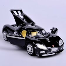 Collectible 1:32 Scale Black Koenigsegg Mini Alloy Metal Diecast Car Model Sound