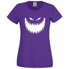 Womens Amazing Halloween Face Girls Top Novelty Printed Casual Fit Lot T Shirt