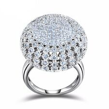 Crystal Ring for Women Elegant Luxury CZ Zircon Ring