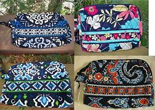 VERA BRADLEY Small Cosmetic Bag Happy Snails Canterberry Ink Blue Marrakesh