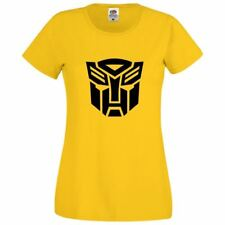 Womens Transformers Distressed Girls Top Novelty Printed Casual Fit Lot T Shirt