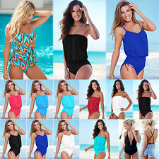 Summer Womens Sexy Bikini One Piece Monokini Tankini Bodysuit Swimsuit Beachwear