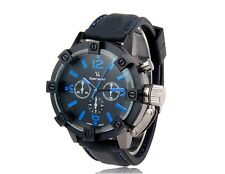 V0045 Men's Sport Wrist Watch with Metal Case, Plastic Band, Quartz Movement