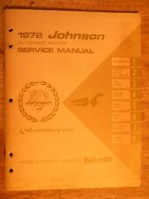 1972 JOHNSON BOAT OUTBOARD MOTORS SERVICE PARTS MANUAL REPAIR BOOK MARINE ENGINE
