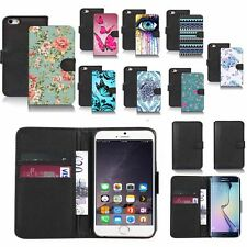 black faux leather wallet case cover for popular mobiles design ref z142