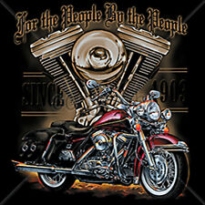 For The People Motorcycle Engine USA Biker Club Chopper T-Shirt Tee