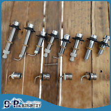 Beer Tap Long Shanks, 304SS & PC, Convert Fridge To Kegerator, Home Brewing