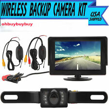 "7''4.3"" TFT LCD Monitor+Wireless Car Backup Camera Rear View System Night VisiEA"