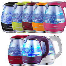 Cordless Electric Kettle 1,5 Liter Hot Water Boiling Tea Glass BPA Free Ovente