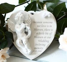 Because someone we love is in Heaven memorial plaque personalised gift wedding