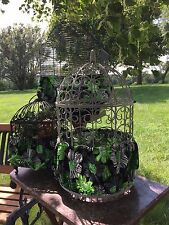 Handmade Green Black Fabric Bird Cage Skirt Seed Catcher Guard or Cover XS-XXL