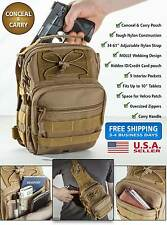 Tactical Bug Out Bag Backpack Tan/Black MOLLE Survival Gear Bugout Bag Prepper