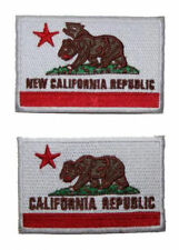Fallout New Vegas NCR Flag Mutant Bear Embroidered Patch Sew/Iron-on 2 Styles