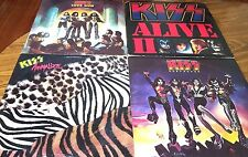 KISS - 4 LP Record Lot.  Destroyer, Animalize, Love Gun, Alive II.