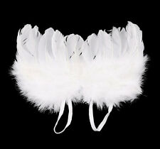 Baby Angel Wings Prop Outfits Photo Photography Newborn Girls Boys Costume White