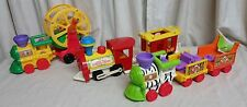 Vintage - 2k Fisher Price Little People Mixed Train Lot Engines Cars