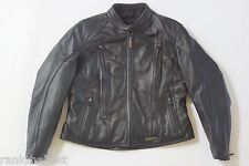 Harley Davidson Women's FXRG Water Resistant Black Leather Jacket XL 98520-05VW