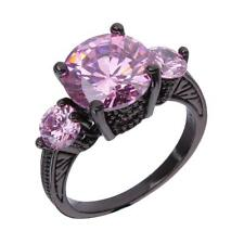Vintage Fashion Women Lady Three Rhinestone Embeded Finger Ring Party Jewelry