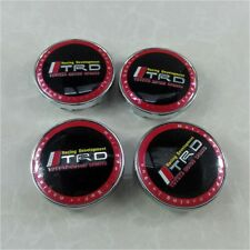 4X 60mm Emblem Badge Sticker Wheel Hub Caps Center Cover TRD RACING