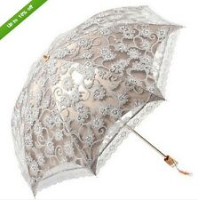 2017 NWT Women Lace Princess folding Anti-UV Parasol Umbrella for Sun protection