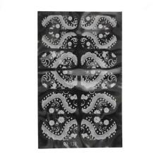 1 Sheet 3D Nail Art Stickers White Lace Pattern Self-adhesive Nail Decoration