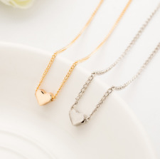 Floating LOVE HEART Charm chain Pendant fashion Necklace Silver or Gold plated