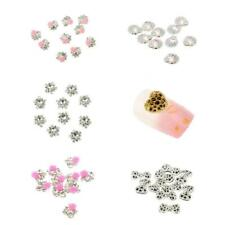 10x 3D Nail Art Rhinestones Craft Decorations Bling Crystal Tips DIY Accessories