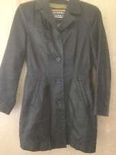 A Pelle Studio Wilsons Black Leather  Button Blazer Jacket Sz Small