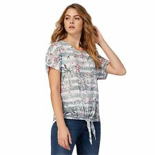 The Collection Womens Khaki Short Sleeve Floral Tie Top From Debenhams