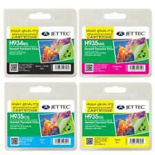 H934XL & H935XL Set of 4 Remanufactured Cartridges replacements for HP 935XL