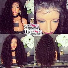 """12-22"""" Curly Human Hair Wigs 6A Full Lace Front Indian Remy Hair Wig For Women"""