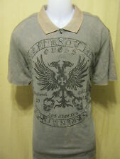 GUESS Slim Fit Mens Polo Style Shirt XL Short Sleeve Iron Grey School Date New