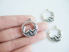 10/20pcs Antique Silver Style Sea Little Mermaid Alloy Charms Pendants Findings