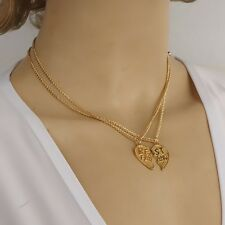 Gold Lovely Heart Chain Necklace Street Fashion Multilayer Statement
