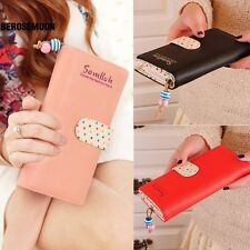 fashion lady women long purse clutch wallet high quality zip bag card holder B0N