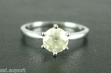 3Carat Diamond Round Cut Solitaire Brilliant Engagement Ring 14K White Gold Over