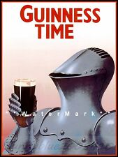 Knight Guinness Time Drink Vintage Poster Print Retro Beer Advert