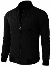 H2H Mens Casual Premium Quilted Lightweight Zip up Jacket - Choose SZ/Color