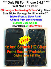 "iPhone 6 4.7"" 3D Holographic Pattern Skin Sticker Package, Bumper + Protector"