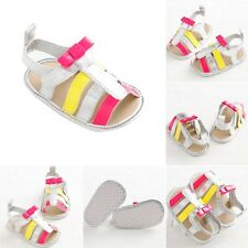0-18M Baby Girls Boys Soft PU Leather Shoes Infant Anti-slip Prewalker Sandals