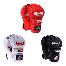 2017 Gel Tech MMA UFC Leather Grappling Gloves Boxing Fight Punch Bag Muay Thai