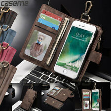 Leather Removable Zipper Wallet Magnetic Flip Card Case Cover F iPhone 6 6S Plus